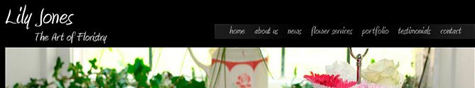 Lily Jones Flowers - website