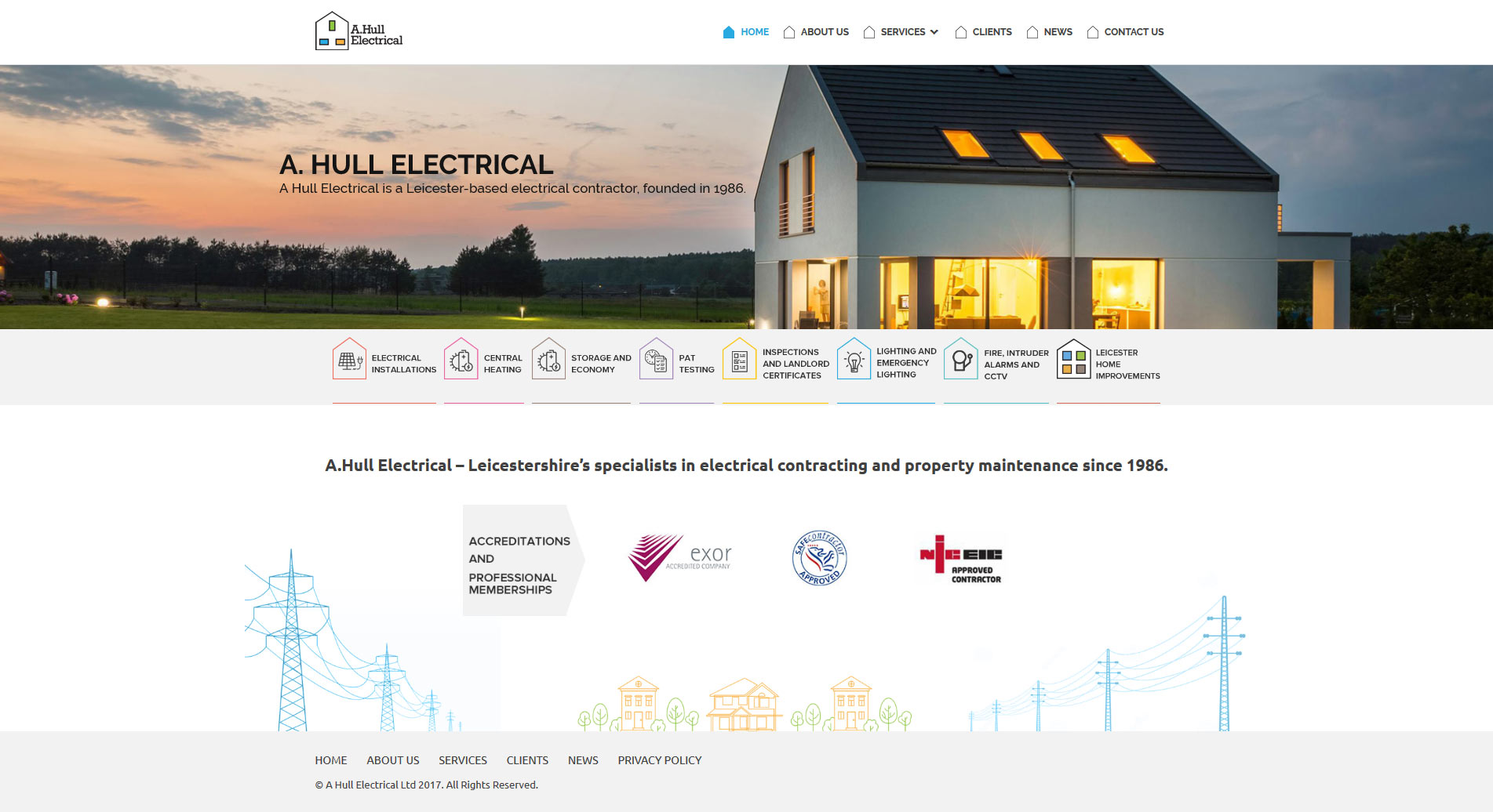 A.Hull Electrical - website